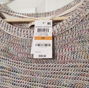 Style & Co Sweaters - Plus Size Multicolor Sweater